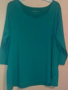 Susan Graver Essentials turquoise top